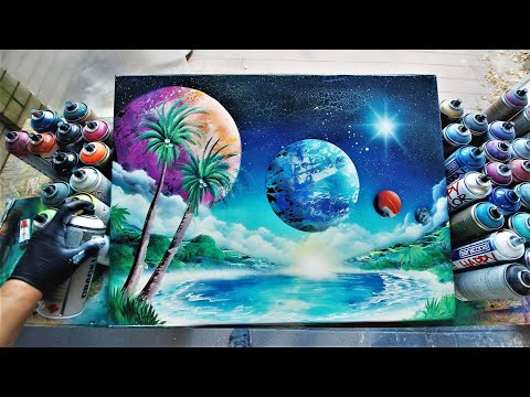 SPACE OASIS - SPRAY PAINT ART By Skech