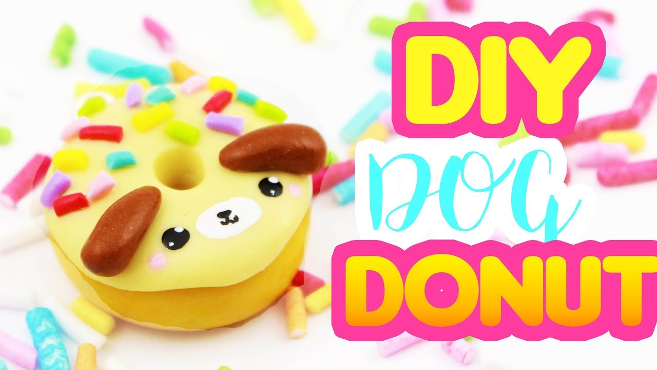Diy clay dog donut kawaii friday youtube for Cute things to make out of clay