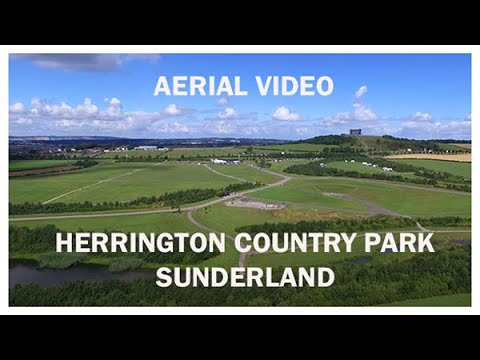 Herrington Country Park, Sunderland, UK - Aerial Video 1