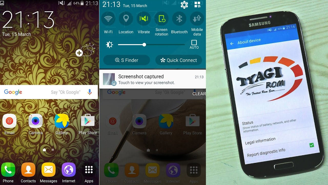 TyaGi Rom V3 Protons Update on Galaxy S4 i9500 - Смотреть видео