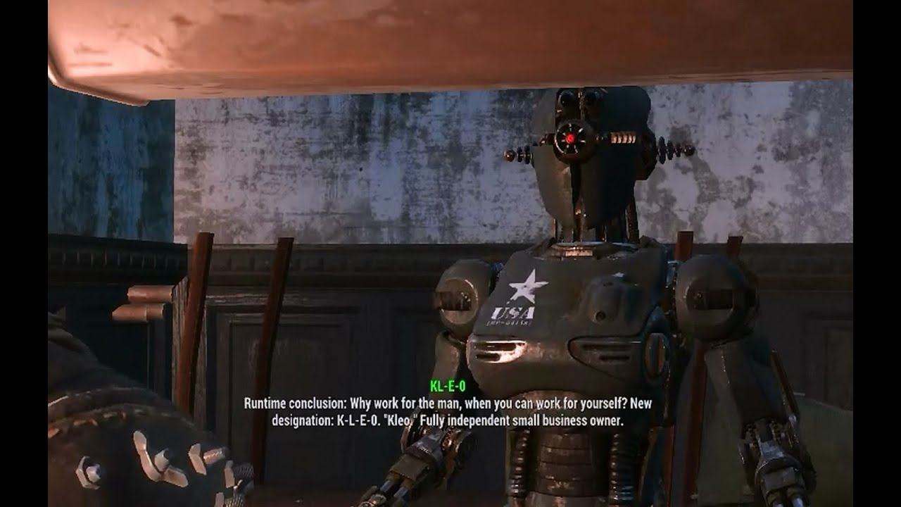 how to make robots work in fallout 4