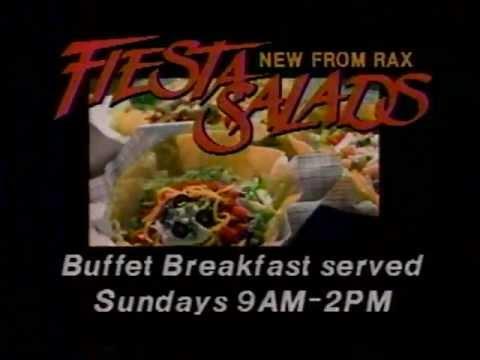 1985 Rax Restaurant Ad with Lorenzo Music