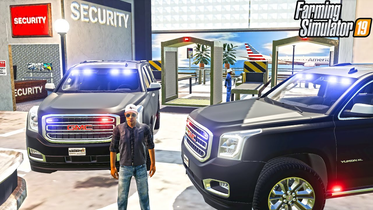 FUGATIVE ON THE LOOSE IN AIRPORT (ARRESTED)   FARMING SIMULATOR 2019