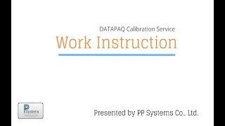 Datapaq Calibration Service l PP Systems