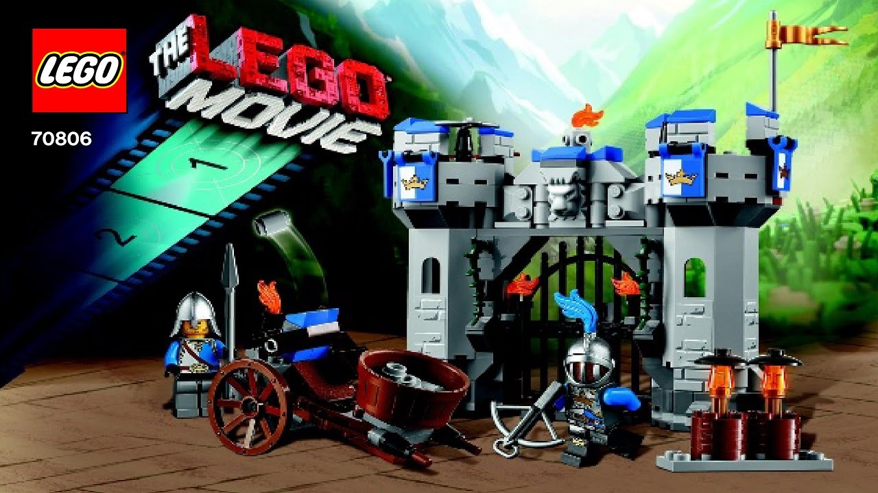 70806 Castle Cavalry Lego Movie Instruction Booklet Youtube