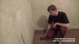 видео Укладка фанеры на пол