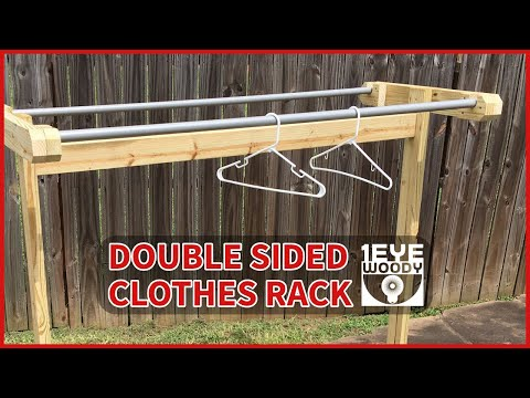 Making A Double Sided Clothes Rack For A Yard Sale   YouTube