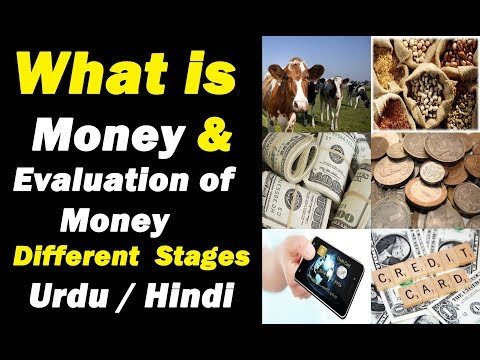 What is Money & Evaluation of Money Different Stages ? Urdu / Hindi