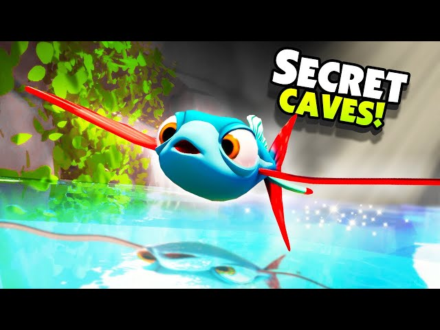 Escaping The SECRET CAVE LAB As FLYING FISH! - New I Am Fish Gameplay
