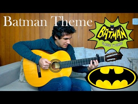 Batman Theme Song - (TV series 1966 / Movie 1989) Fingerstyle (Marcos Kaiser) #67