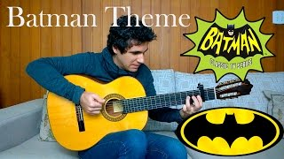 Batman Theme Song - (TV series 1966 / Movie 1989) Acoustic Guitar by Marcos Kaiser