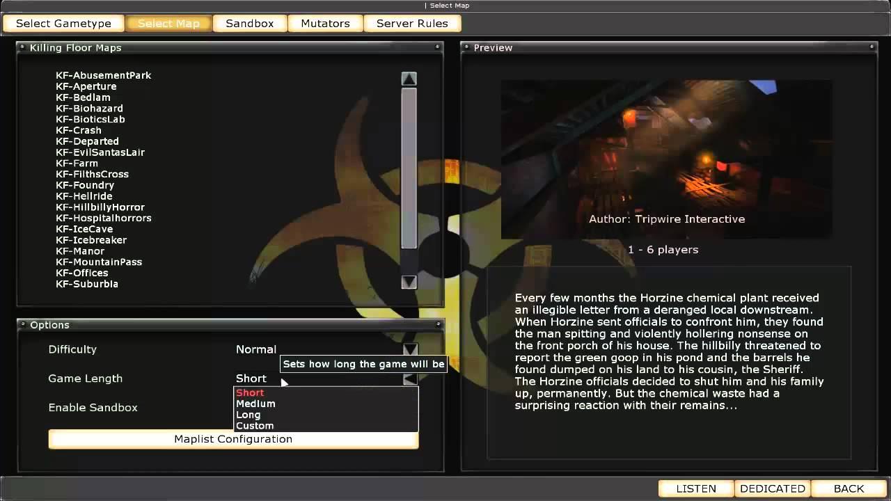 Killing Floor Login Admin Listen Server Youtube