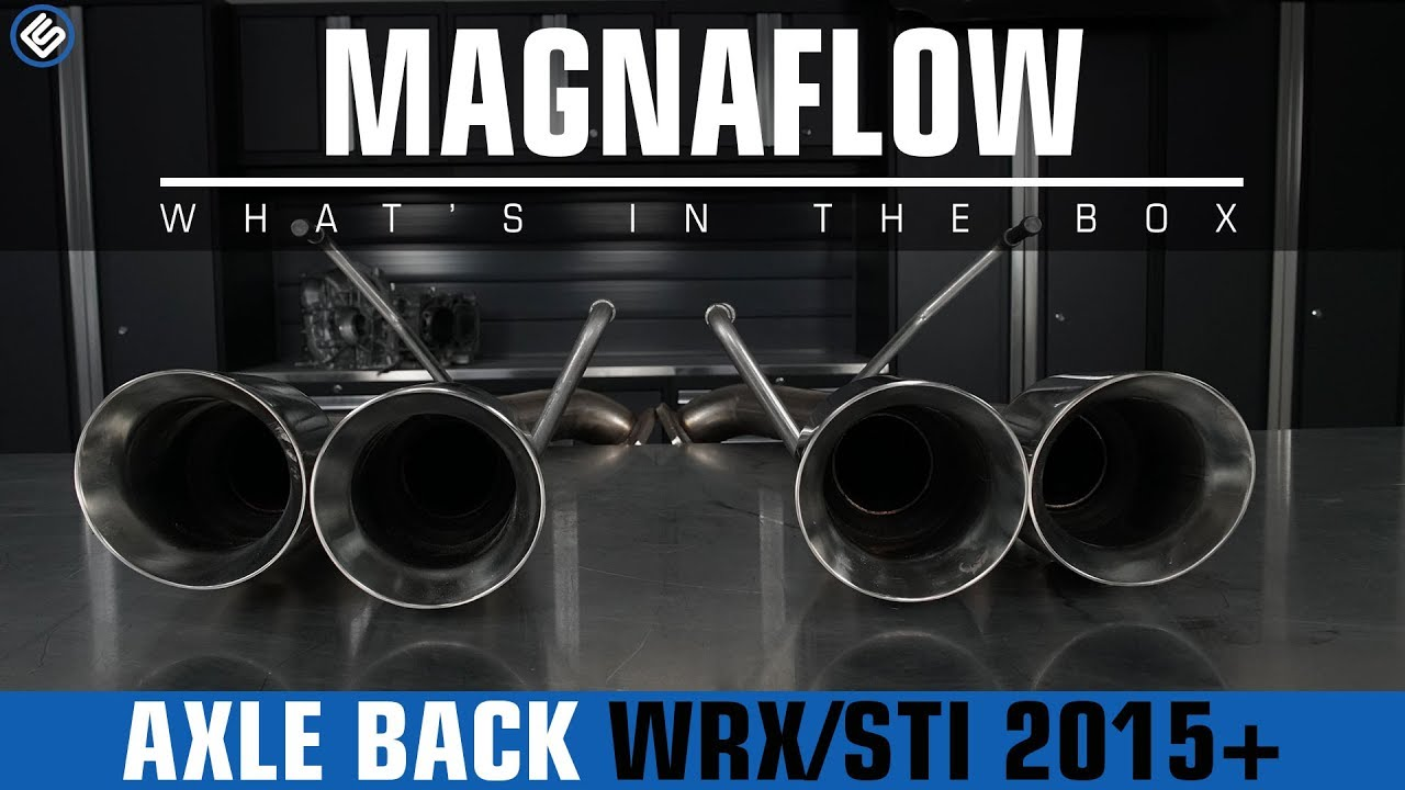 magnaflow axle back exhaust subaru wrx sti 2015