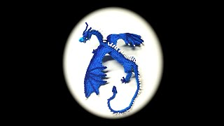 Part 1/10 Rainbow Loom Saphira from Eragon, Adult