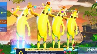 We created the CUTEST banana skin ONLY squad in Fortnite... (too cute)