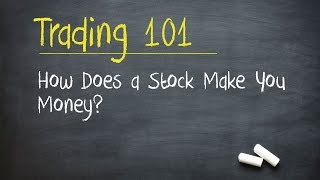 Trading 101: How Does a Stock Make You Money?