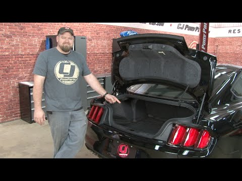 2015 2017 Mustang Ford Rubber Trunk Mat With Subwoofer