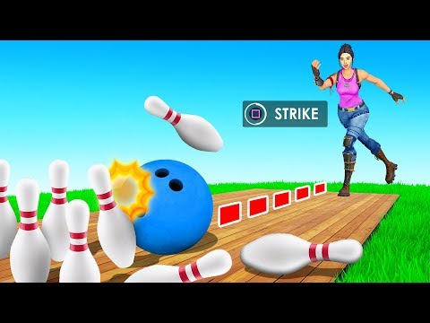 BOWLING but in Fortnite!? (Minigame)