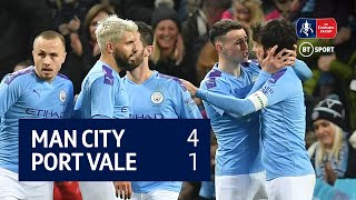 Man City vs Port Vale (4-1) | Emirates FA Cup highlights