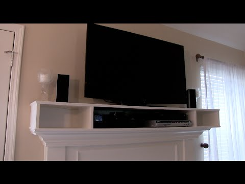OVER MANTLE CABINET FOR TV COMPONENTS   HOW TO   YouTube