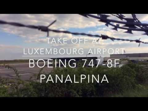 Boeing 747-8F Panalpina Take Off at Luxembourg Airport