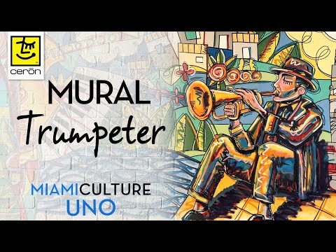 Mural painting time lapse Miami – Pop Art  Style – Street  Art  Mural