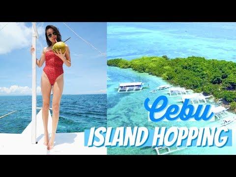 ISLAND HOPPING IN CEBU | Philippines Travel Vlog 2017