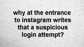 Suspicious login