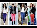 How to wear color skinny jeans