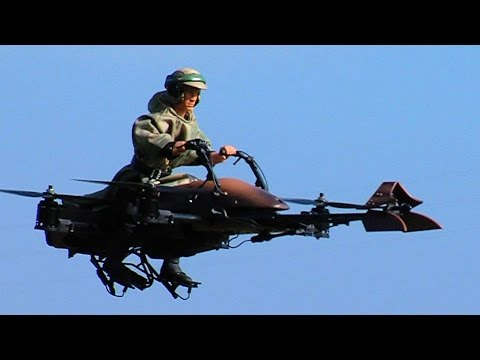 Star Wars Flying Speeder Bike is RC quadcopter