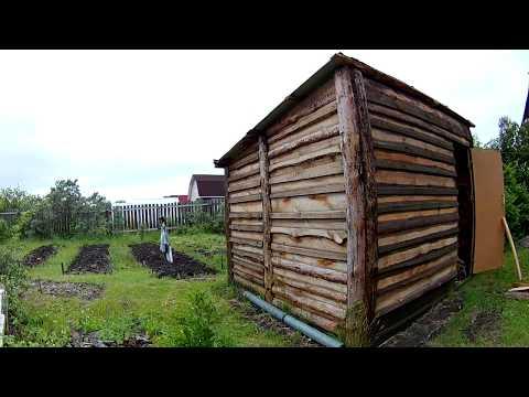 Как построить сарай из горбыля своими руками