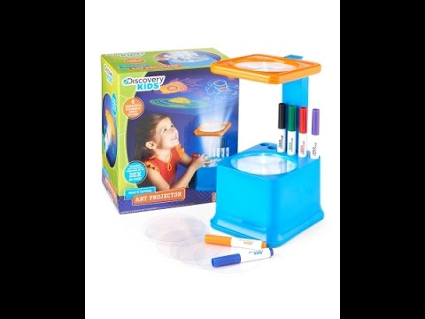 discovery kids wall and ceiling art projector with markers youtube