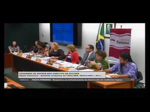 """DEFESA DOS DIREITOS DA MULHER - """"Feminicídio de mulheres negras"""" - 08/08/2018 - 14:48"""