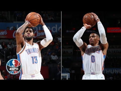 Westbrook, George, Adams each score 20+ to power Thunder over Pelicans | NBA Highlights