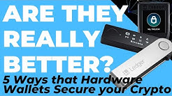 5 Ways Hardware Wallets Secure your Crypto better than a Paper or Software Wallet (Ledger, Trezor)