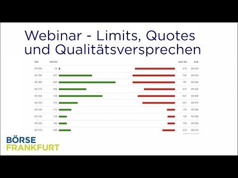 Webinar: Limits, Quotes und Qualitätsversprechen an der Börse Frankfurt