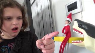 "Shark Attacks Elf On A Shelf ""Toy Freaks Love Santa Claus & Sharks"""