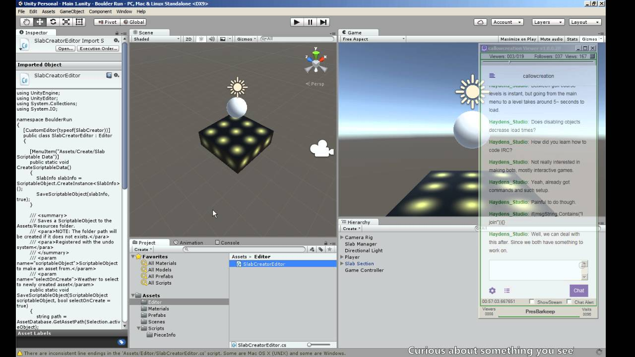 Create and Save ScriptableObject Asset - Boulder Run - Unity Tutorial