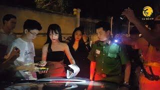 Siêu xe BMW của Thiếu gia Sài Gòn chở 2 hotgirl bị Tổ công tác 363 kiểm tra