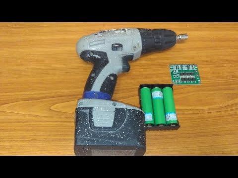 Меняем аккумуляторы в шуруповерте Интерскол 12В с NICd на Li ion