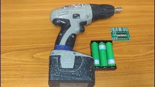 Replaceable batareya Li-ion uchun NICd bilan Interskol 12V screwdriver