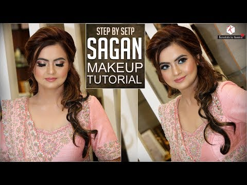 Step By Step Sagan Makeup Tutorial | Indian Engagement Makeup | Krushhh By Konica thumbnail