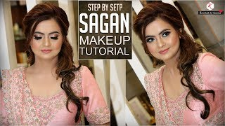 Step By Step Sagan Makeup Tutorial | Indian Engagement Makeup | Krushhh By Konica