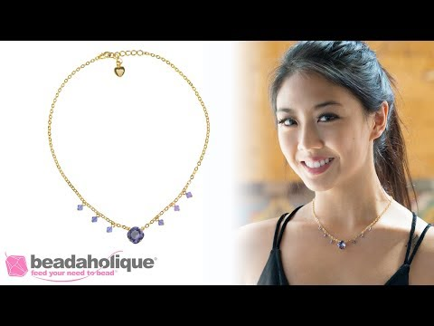 How To Make A Necklace With Gita Settings For Swarovski Crystals