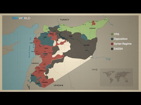 Who is gaining and losing territory in Syria?
