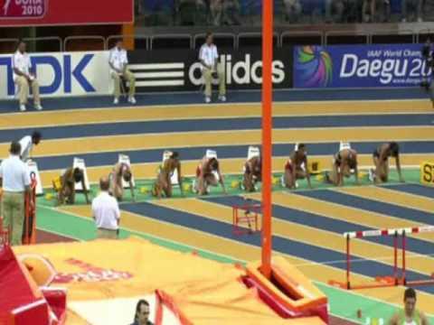 Lolo Jones wins 60mh final world championships Indoor Doha 2010