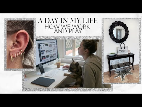 A DAY IN MY LIFE: WORKING FROM HOME IN THE NEW OFFICE!   Lauren Elizabeth