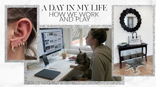 A DAY IN MY LIFE: WORKING FROM HOME IN THE NEW OFFICE! | Lauren Elizabeth