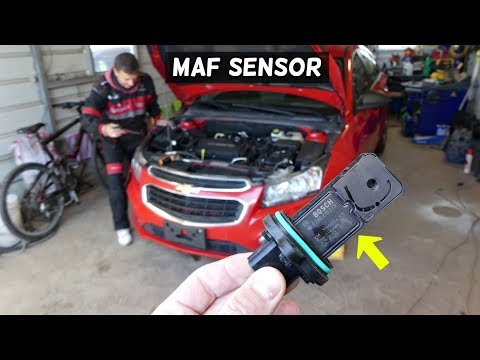 CHEVROLET CRUZE MAF SENSOR MASS AIR FLOW SENSOR REPLACEMENT LOCATION  CHEVY CRUZE