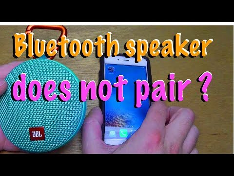 Problems pairing JBL bluetooth speaker to smartphone